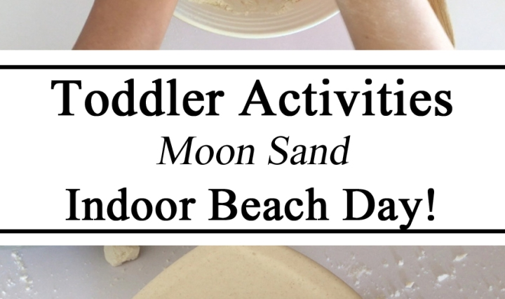 Moon Sand, Recipe, Indoor Beach, Toddler Activities, Preschool Activities, Messy Play, Sensory Play, DIY, Homeschool, Homeschooling, Kids Activities, Early Childhood Education, Simple Easy to Make, Make it yourself