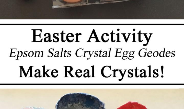 Science for Kids, Crystals, Egg Crystal, Epsom Salts Crystals, STEM Challenge, Toddler, Preschool, Kindergarten, Homeschool, Homeschooling, Totschool, Early Childhood Education, Grow Crystals, DIY, Resources Parents