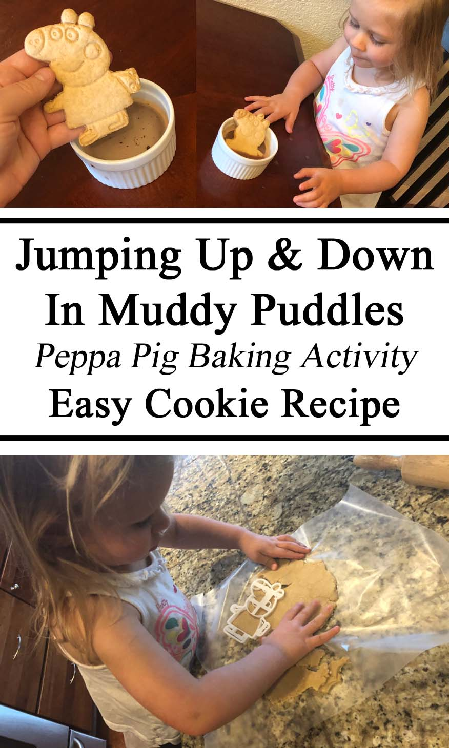 Peppa Pig, Cookie Recipe, Activity, Hands on, Themed Activity, Practical Life Skills, Toddlers, Preschool, Tot School, DIY, Parent Resources, Inspiration