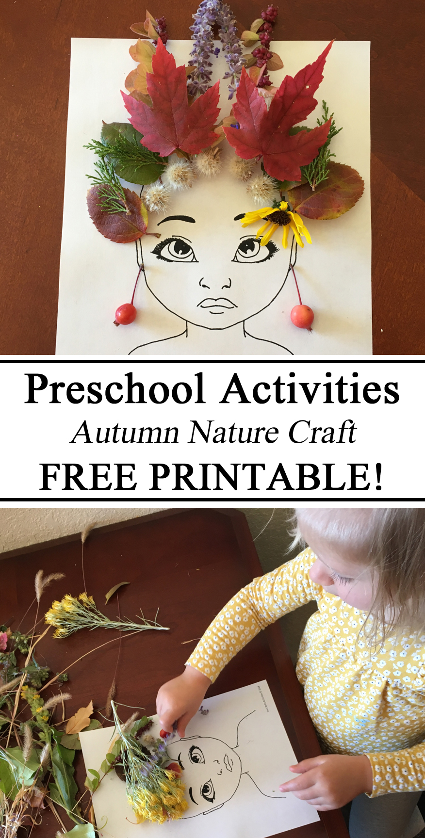 Free Printable, Free Printables, Leaf People, Art, Nature Art, Toddler, Preschool Activities, Activity, Montessori, Waldorf, Resources, Parents, Teachers, DIY