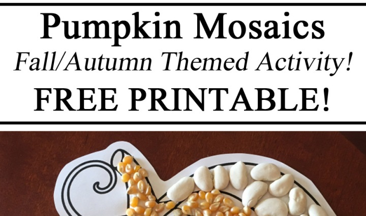 Mosaic Art, Nature Play, Fall Activities, Montessori, Hands on Learning, Educational, Homeschool, Homeschooling, Totschool, Preschool, Resources, Free Printables, Printables, Pumpkin, Seeds, Beans, Art, Crafts, Activities for Kids