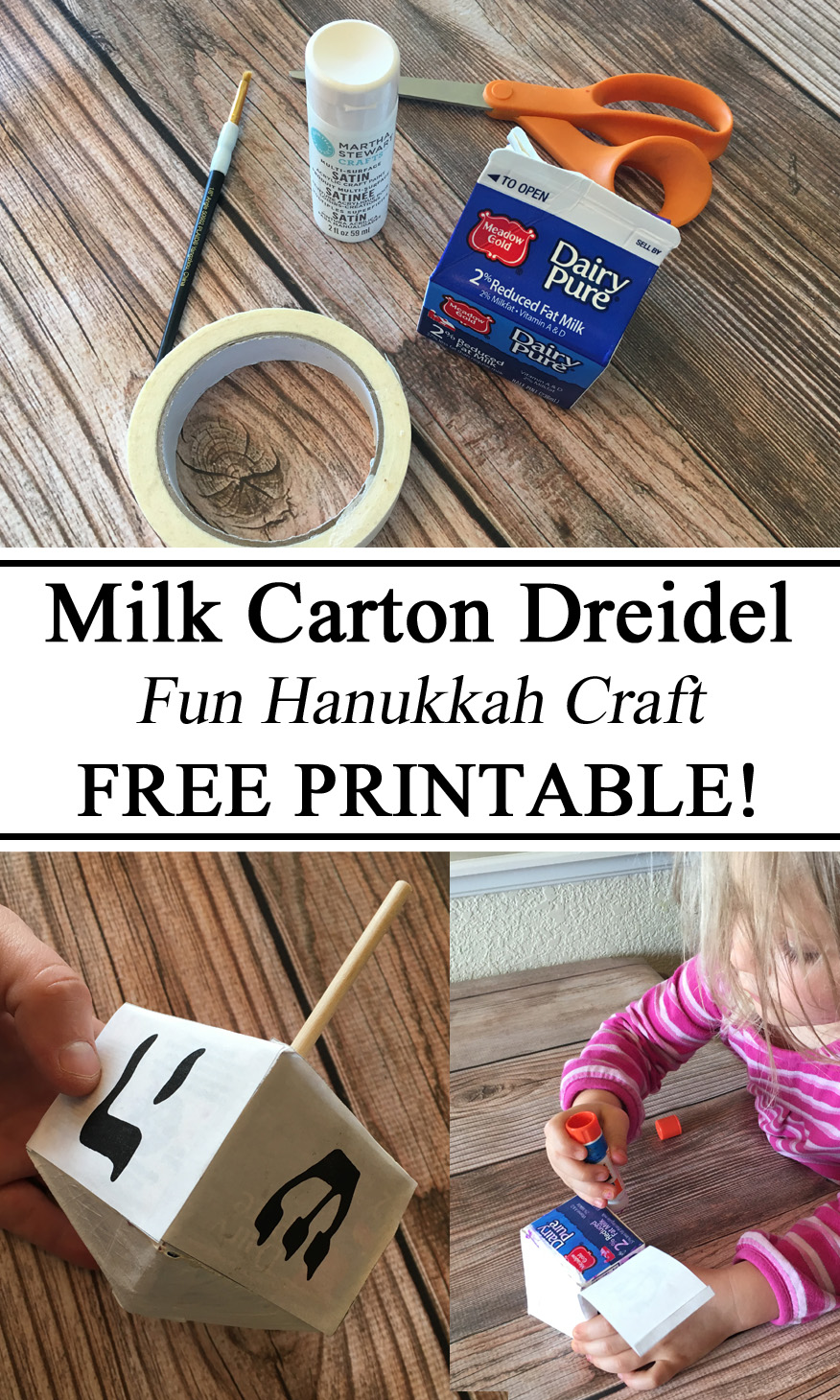 Upcycle, Milk Carton Craft, Preschool Crafts, Activities, Jewish, Hanukkah, Israeli, Israel Unit, Dreidel, Paper Crafts, Preschool, Kindergarten, Elementary, Homeschool, Homeschooling, Montessori, Waldorf, Geography, #travelingthroughlearning, Educational, Hands on Activity, Arts and Crafts, Creativity