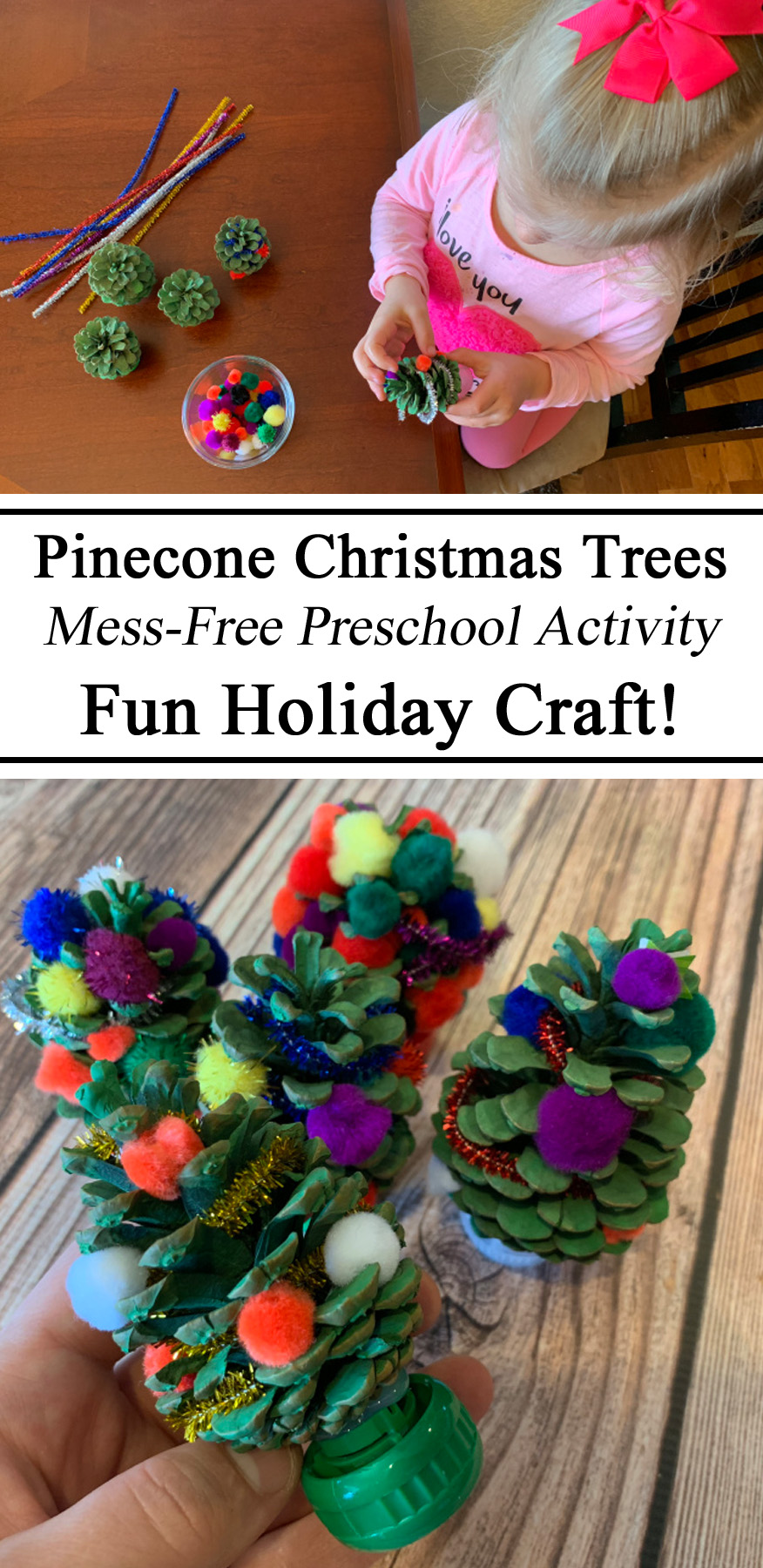 Pinecones, Christmas Crafts, Preschool Activities, Christmas Trees, Fine Motor Skills, Hands on Learning, Homeschooling