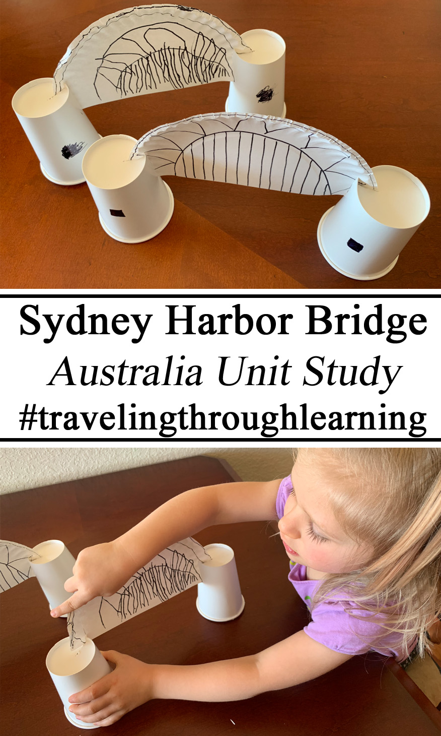 Montessori, Activities, Sydney Harbor Bridge, Australia Day Activities #travelingthroughlearning Culture Geography Learning About Countries Aussie Preschool, Totschool Totschooling, Nursery School, Ideas Teachers Resources, Educational, Learning Traveling,