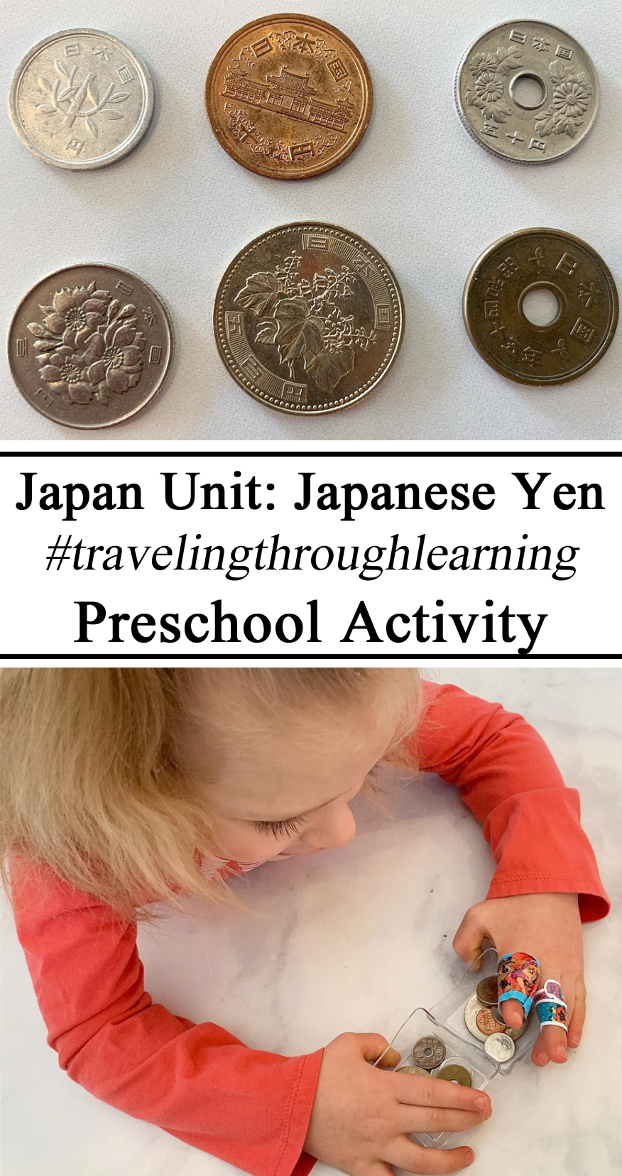 Japan Yen, Japanese, Currency, Money, Coins, Comparing, Preschool, Travelingthroughlearning, Culture, Global Citizens, Homeschool, STEM Challenge, Floating money, Coins, water tension, Alluminum, Preschool, Montessori, Counting, Learning, Count,