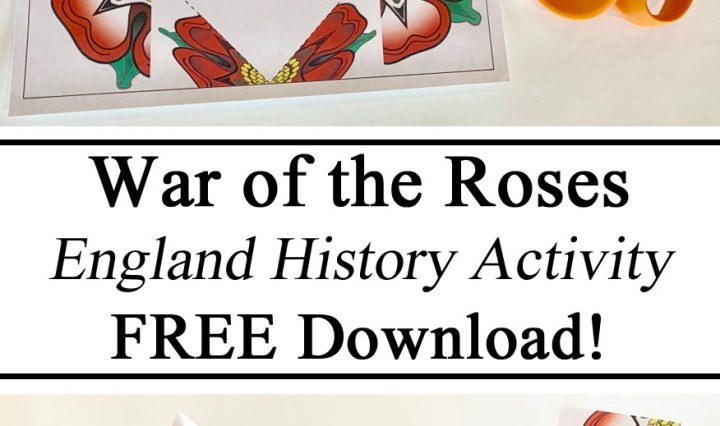 England Unit, #travelingthroughlearning, Free Printables Printable Download Resources, War of the Roses, Tudor History England History UK British Paper Craft Preschool, Kindergarten, PreK, Hands on Learning, Teacher Resources