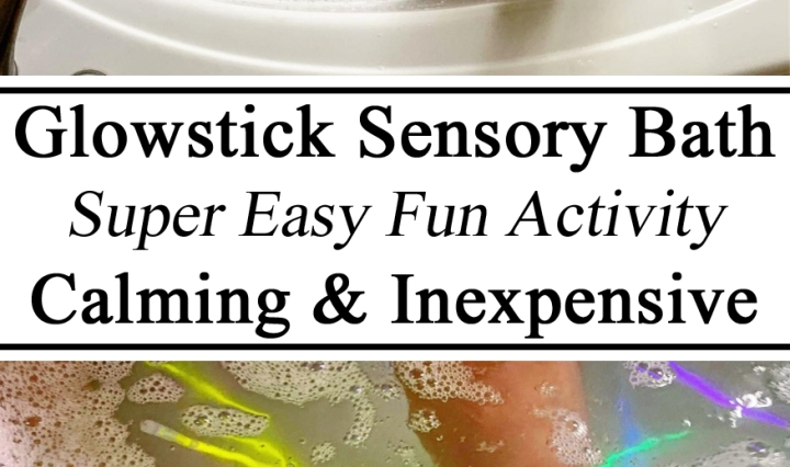 Sensory Play, Bin, Glow Stick, Glowstick, Bath, Tray, Iceland, Activity, Calming, Cheap, Inexpensive, Easy, Fun, Indoor, Aurora Borealis, Northern Lights, Iceland Unit, #travelingthroughlearning, Homeschool, Homeschooling, Unschooling, Educational, Learning, Ideas, Preschool, Toddlers, Calm Down, PreK, Kindergarten, Hands on Learning, Learning through Play