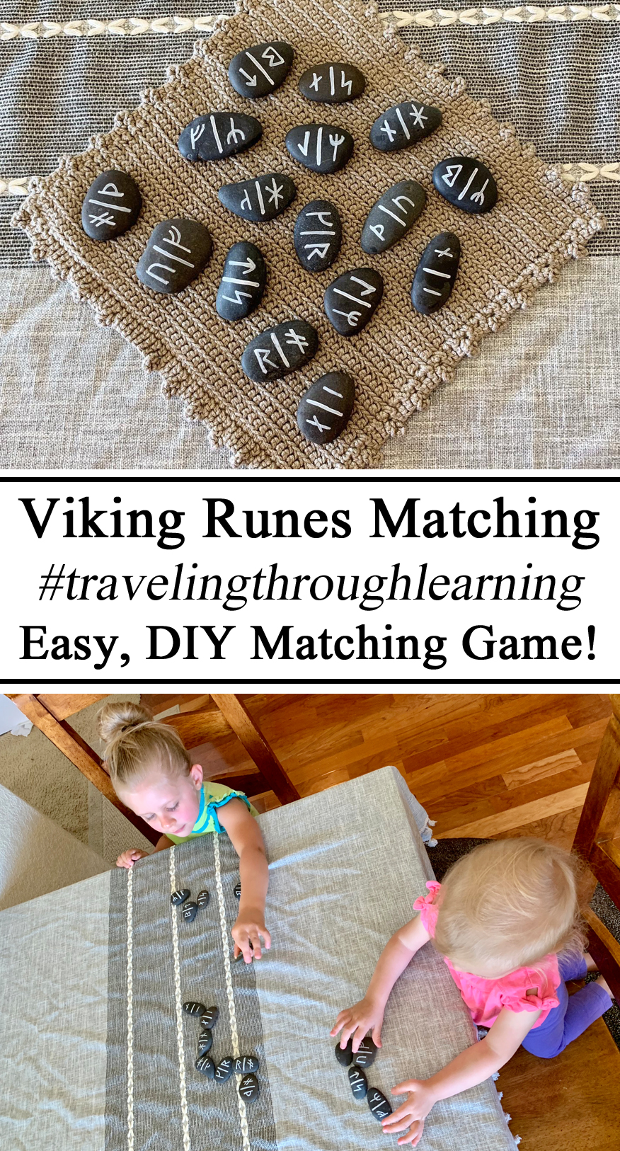 Homeschool, Homeschooling, Viking Runes Younger Futhark, Old Nose, Language, Dominos, Matching, DIY, River Rocks, Language, Iceland Unit, Learning Icelandic, #travelingthroughlearning, Hands on Learning, Unschooling, Montessori, Preschool, PreK, Kindergarten, Creative Moms, Early Childhood Education