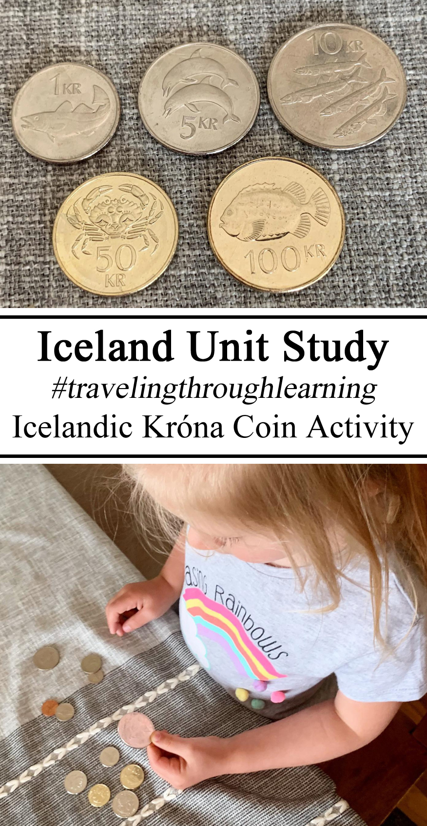Homeschool, Homeschooling, #travelingthroughlearning, Icelandic Iceland Unit Studies Study Coin Currencies World Activity Little Global Citizens Passports Learning about Iceland Preschool, PreK Kindergarten