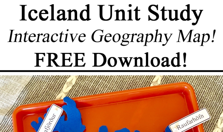 Iceland Unit, Montessori Inspired Inspiration Unit Study Studies Homeschooling Homeschool Geography Map Foam Interactive Free Printable Download Printables Learning About Iceland Icelandic Towns Cities Unschooling Travel Schooling Preschool PreK Kindergarten Resources Waldorf