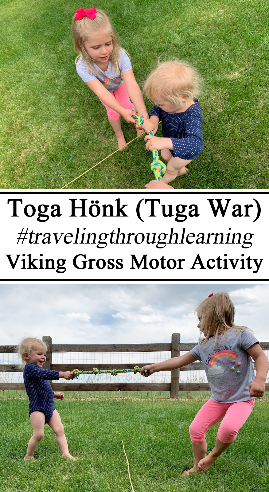 Gross Motor Skills, Tuga War Iceland Viking Unit Activities Hands on Learning Unit Studies Summer Toddler Preschool PreK Kindergarten #travelingthroughlearning Montessori Muscles Skills Skill Homeschool, Homeschooling