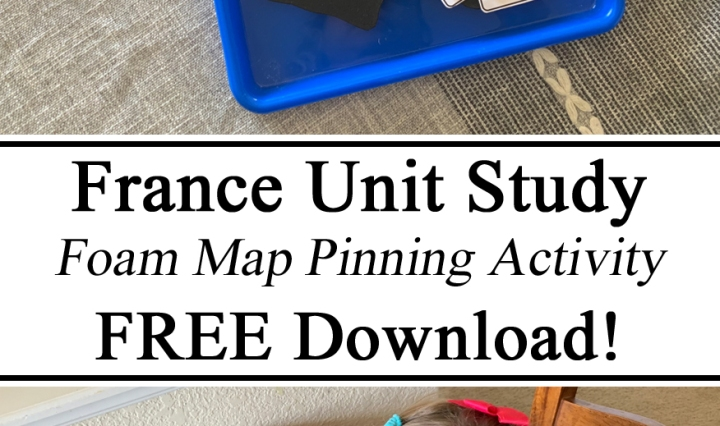 Homeschool, Homeschooling, France Unit, Unit Studies, Hands on Learning, Foam Map, Pinning Activity, Fine Motor, Montessori Inspired, Waldorf, Homeschool Ideas, Geography, Preschool, Pre-K, Kindergarten, Learning, Educational, Kids, Unschooling, Culture, little Passports