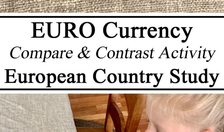 Homeschooling, Euro, European, Money, Coins, Currency, Denominations, Compare, Contrast, United States, USA, Dollar, Counting, Learning, Learn, Educational, Montessori, Inspired, Early Years, Hands on Learning, Unschooling, Preschool, PreK, Kindergarten, World Cultures
