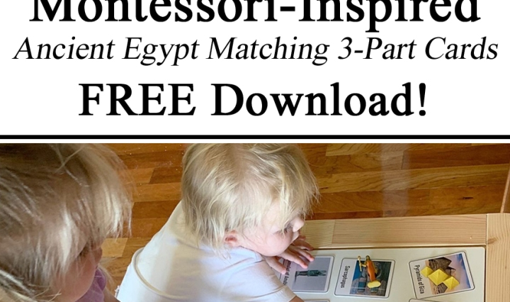 Homeschooling, Hands on Learning, Sensory Activity, Activities Ancient Egypt 3-Part Three Part Cards Montessori Inspired Free Printables Download Unschooling Homeschooling PreK Kindergarten Preschool Ideas Inspiration Parents Teachers Early Years Ideas