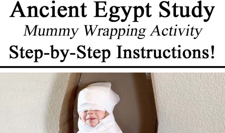 Ancient Egypt Mummy Sarcophagus Box Coffin Toilet Paper Gross Motor Skills DIY Amazon Boxes Upcycleing Ideas Inspiration Preschool at Home PreK Kindergarten Educational Learning about Egyptians Pharoahs Mummy Mummies Make it yourself