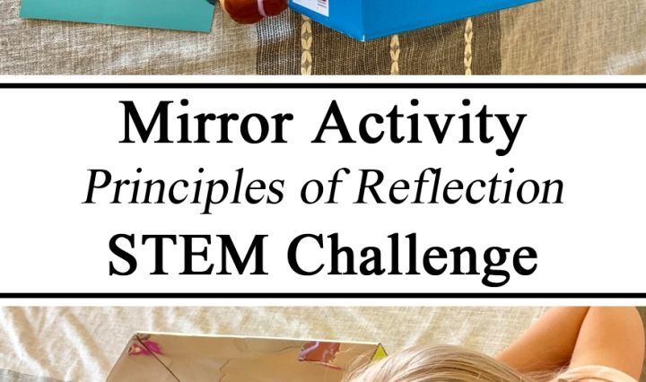 Mirror Reflection STEM STEAM Challenge Activity Learning Principles of Reflection Science Experiment Hands on Learning Homeschool Unschool Preschool PreK Kindergarten Ideas Educators Learning to DIY Upcycle Shoebox Palace of Versailles France